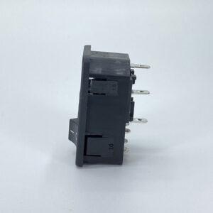 0717-1S connettore iec c14 maschio 10a fusibile interruttore