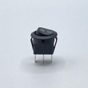 24nbbs0206 interruttore rotondo nero unipolare on-off