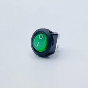 25lbgs0101 interruttore rotondo luminoso verde unipolare on-off