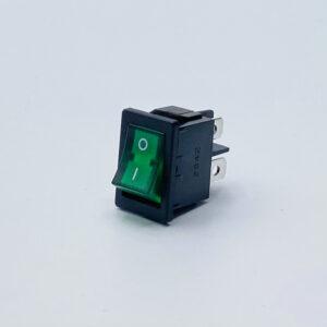 33lbgs1001 interruttore rettangolare luminoso verde unipolare on-off