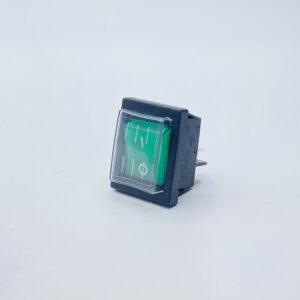 52lbgs1001tw interruttore rettangolare luminoso bipolare verde cappuccio