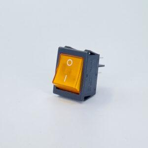 52lbgs1001tw interruttore rettangolare luminoso bipolare arancio