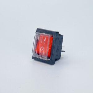 52lbgs1001tw interruttore rettangolare luminoso bipolare cappuccio rosso