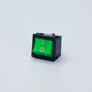 62lbgs0901 interruttore luminoso verde rettangolare biipolare nero on-off