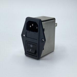 SS6 connettore con filtro emi rfi iec c14 fusibile interruttore