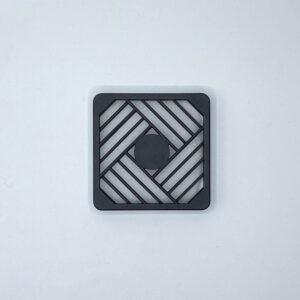 fp80 filtro plastica ventola assiale 80x80
