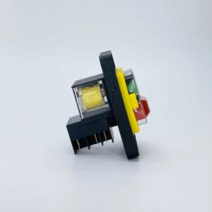 interruttore pulsate sicurezza rosso verde 230v kjd12
