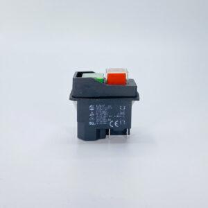 interruttore a pulsate sicurezza verde rosso 230v kjd17